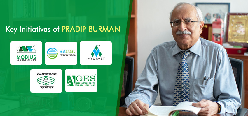 Key initiatives by Mr. Pradip Burman